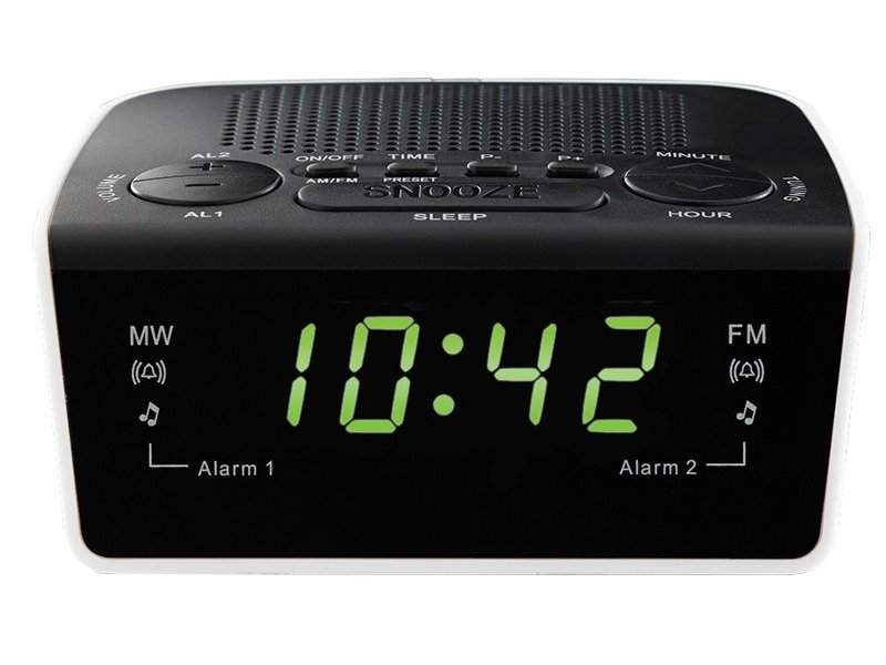 Ραδιο-ρολοϊ ρεύματος με ξυπνητήρι και λειτουργία Snooze