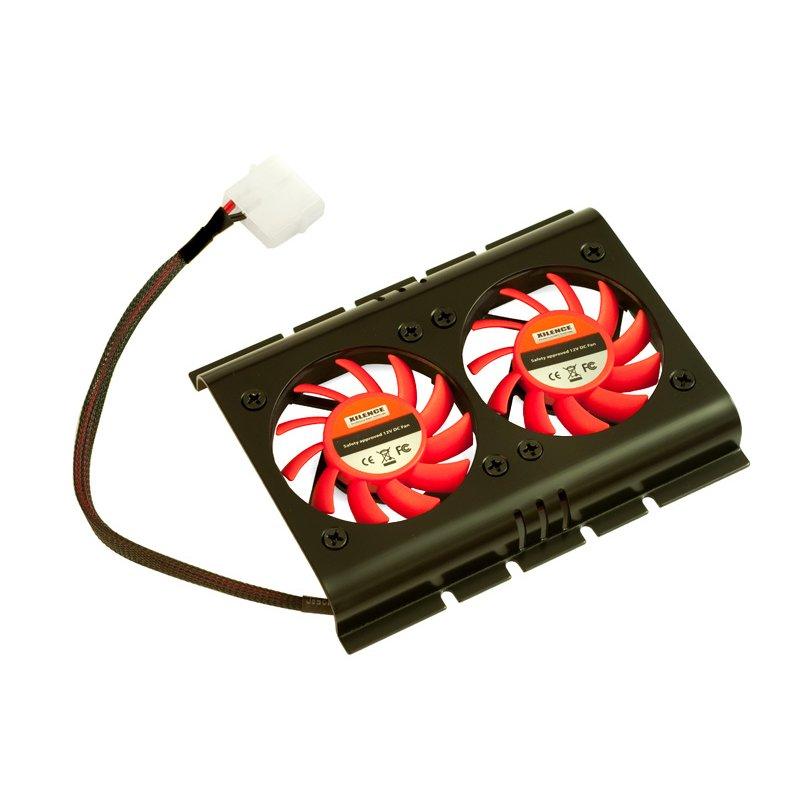 """HDD cooler για σκληρούς δίσκους 3,5"""", με δύο ανεμιστήρες των 60mm"""