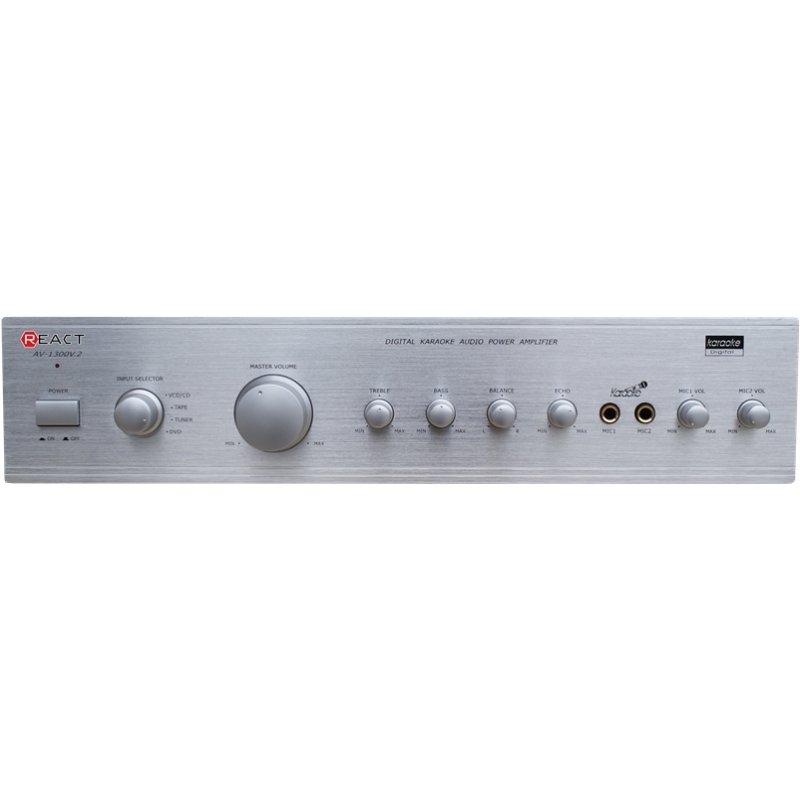 Ενισχυτής ήχου στερεοφωνικός REACT AV-1300 /S(2x100w)