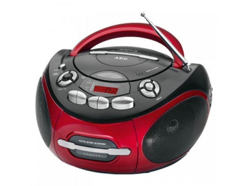 AEG Φορητό ραδιοκασετόφωνο stereo, με CD/ MP3 player.