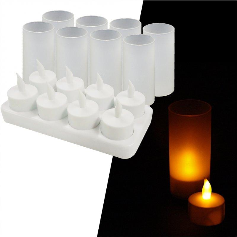 ΣΕΤ 8 Επαναφορτιζόμενα ηλεκτρικά κεριά