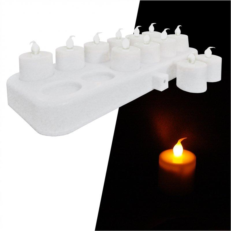 ΣΕΤ 12 Επαναφορτιζόμενα ηλεκτρικά κεριά