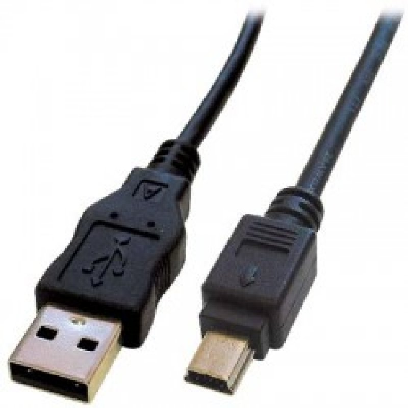 Καλώδιo USB A αρσ. - USB mini 5pin, 2.0 Μήκος:1.8m