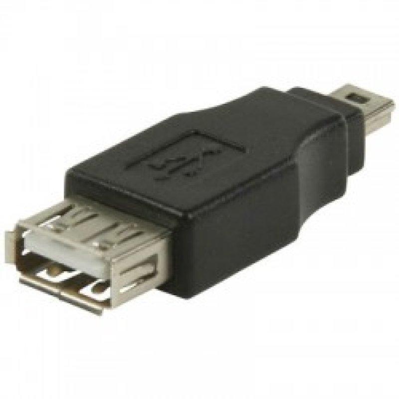 Αντάπτορας USB 2.0 A θηλ. - USB mini 5-pin αρσ.