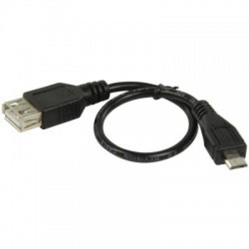 Αντάπτορας / Καλώδιο USB 2.0 θηλ. - USB micro B αρσ.  - Μήκος: 0.20m