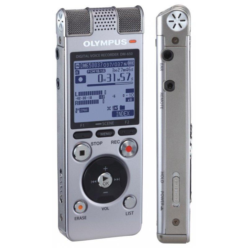 OLYMPUS DM-650 Ψηφιακό stereo καταγραφικό με εσωτερική μνήμη 4 GB.