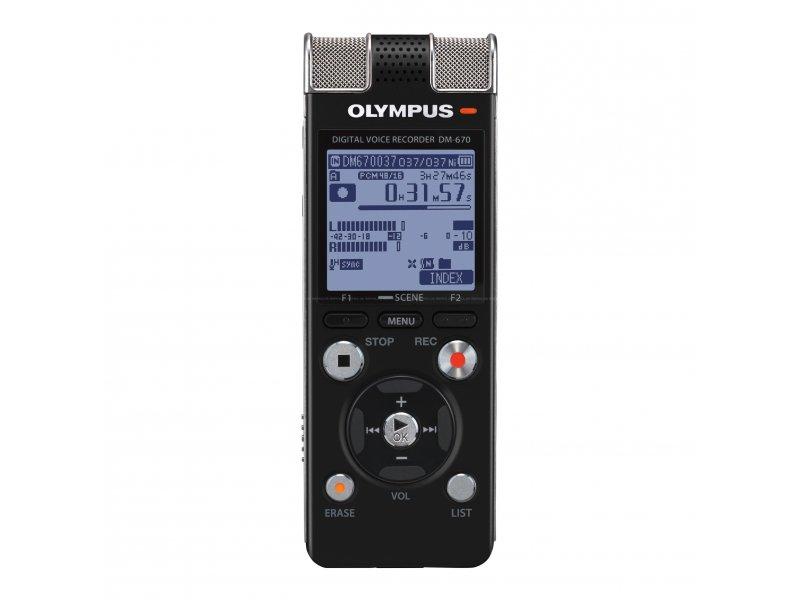 OLYMPUS DM-670 Ψηφιακό stereo καταγραφικό με εσωτερική μνήμη 8 GB.
