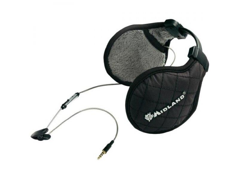 Midland SubZero Music μαύρα Στερεοφωνικά ακουστικά σκιέρ για Smartphone & PMR.