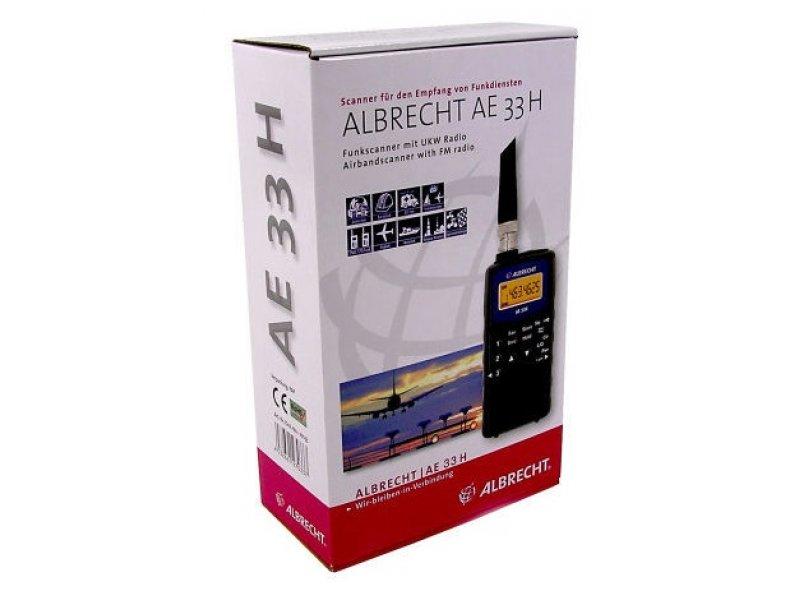 Albrecht AE 33H Φορητό συχνόμετρο Scanner με ραδιοφωνικό δέκτη FM, Airband, UHF και VHF.
