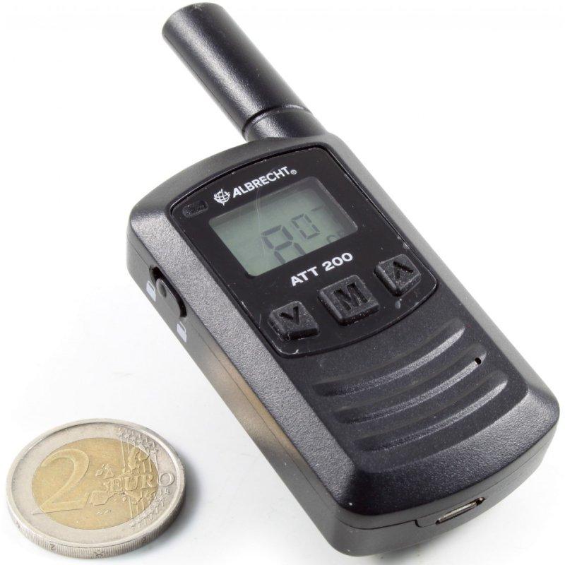 Albrecht ATT200 Μίνι ασύρματος πομποδέκτης PMR446(Walkie-Talkie)κατάλληλος για ενδοεπικοινωνία σε μαγαζιά
