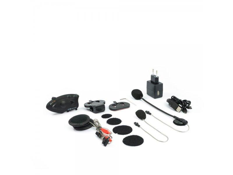 Midland BTX1 FM (Ζευγάρι) Σύστημα ενδοεπικοινωνίας Bluetooth για μηχανές με ενσωματωμένο ραδιόφωνο FM.