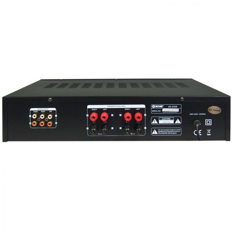 Ενισχυτής ήχου στερεοφωνικός REACT AV-2305B(2x60wRMS)