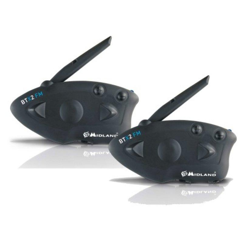 Midland BTX2 FM Twin Pack - Προηγμένο σύστημα ενδοεπικοινωνίας BT για μηχανές.