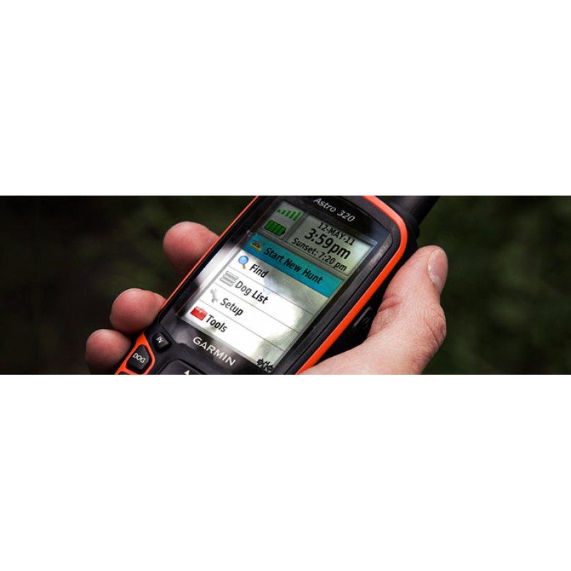 Garmin Astro 320 Σετ GPS χειρός εντοπισμού σκύλων με κολάρο Τ5 και προφορτωμένο χάρτη TopoDrive Hellas.