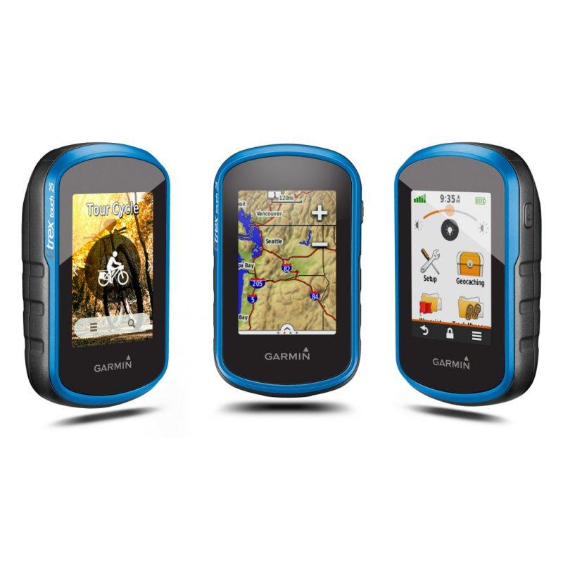 Garmin eTrex 25 Touch Φορητό GPS πλοήγησης χειρός με οθόνη αφής και πυξίδα τριών αξόνων.