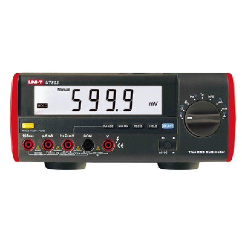 Ψηφιακό πολύμετρο πάγκου - εργαστηριακό της UNI-T UT803