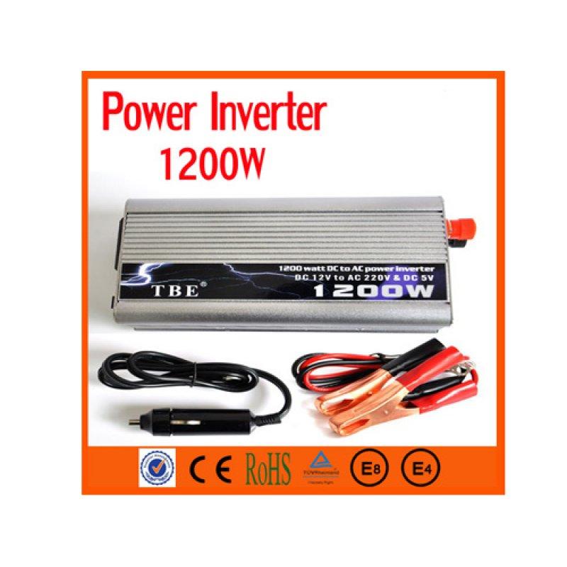 Inverter Αυτοκινήτου 1200W για μετατροπή DC ρεύματος σε AC. Ιδανικό για λειτουργία μικροσυσκευών