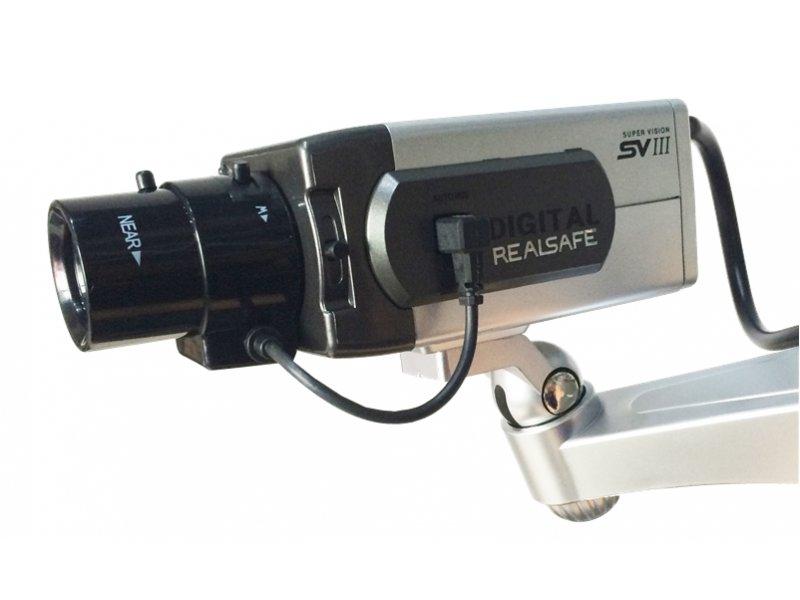 Oμοίωμα κάμερας (dummy) τύπου box, με led που αναβοσβήνει