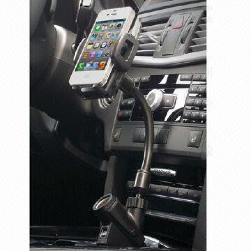 Βάση στήριξης κινητού για το αυτοκίνητο με 2 θύρες USB, ιδανική για τα περισσότερα κινητά, mp3 & mp4 players, PDA και GPS