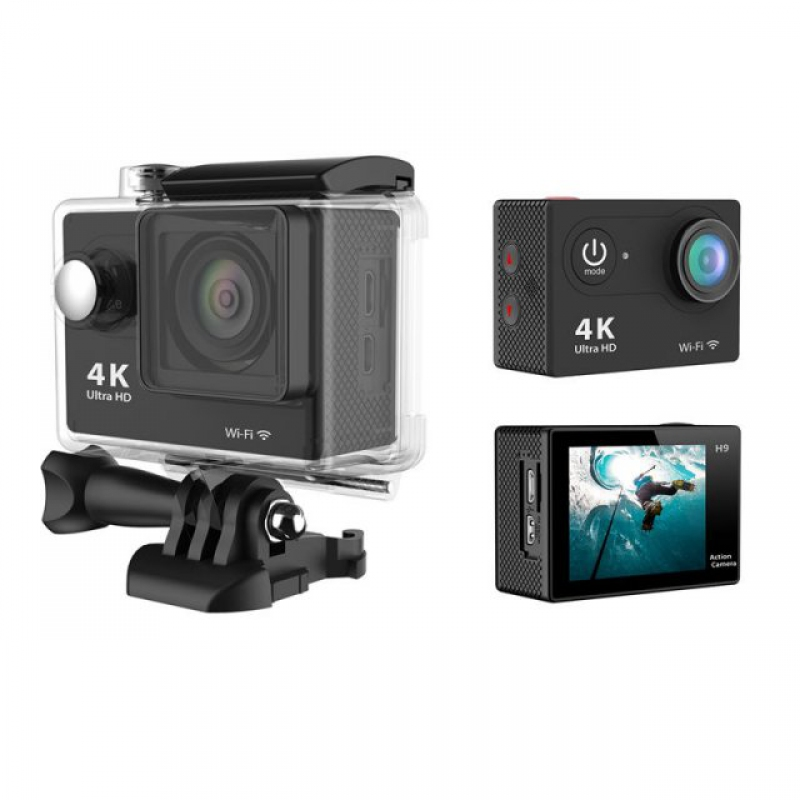 New H9 Action Camera 4k Ultra HD Ανάλυση 12MP Φωτό με υποβρύχια θήκη 30 μέτρα