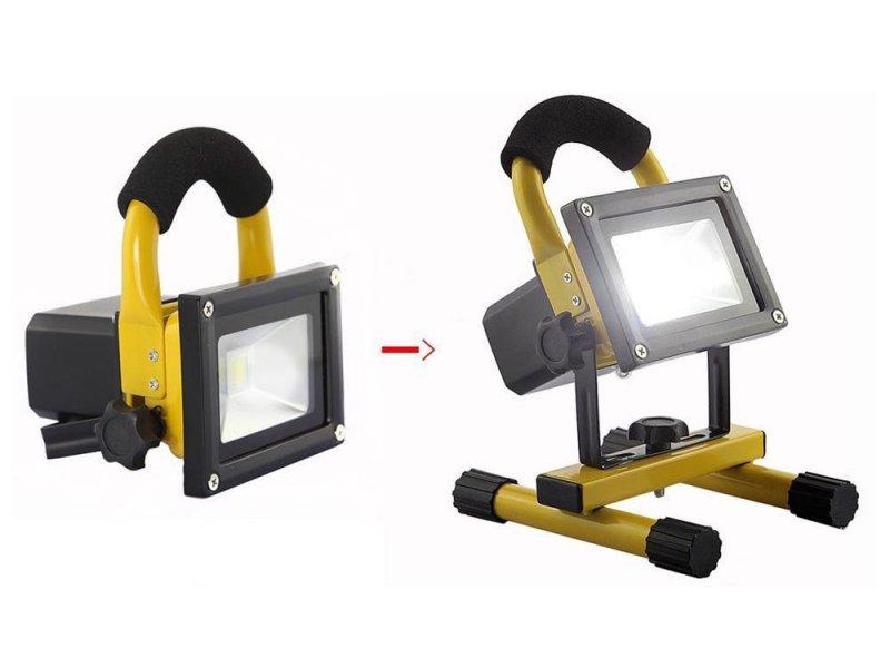 Αδιάβροχος Ισχυρός επαναφορτιζόμενος φορητός προβολέας LED με απόδοση 100watt