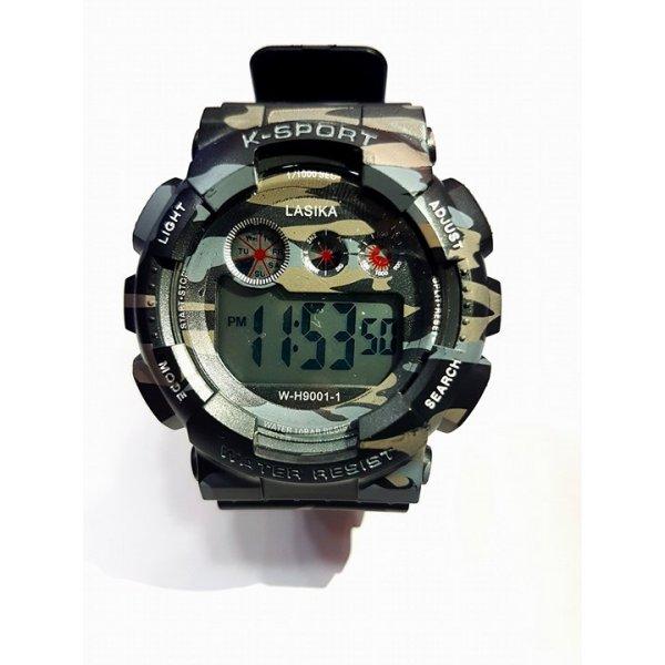 Ρολόι με σχέδιο παραλλαγής με ψηφιακό μηχανισμό Quartz