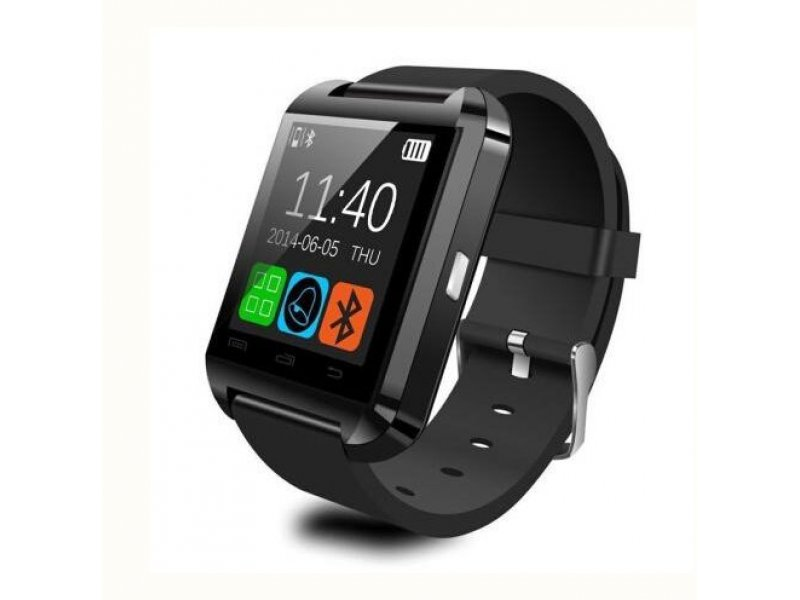 Ρολόι Smart Watch U8 Bluetooth Phone Mate IOS, Android, iPhone, Samsung - ΜΑΥΡΟ