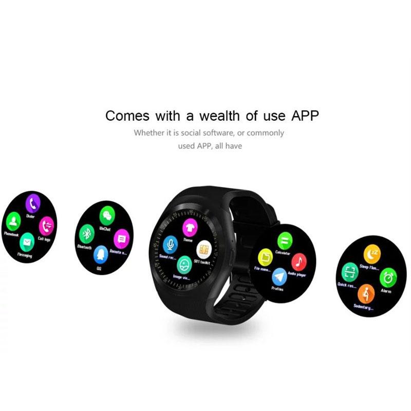 Smartwatch Y1 OEM φέρνει όλα όσα χρειάζεστε στον καρπό σας μέσα από την touch screen, σε χρώμα Μαύρο