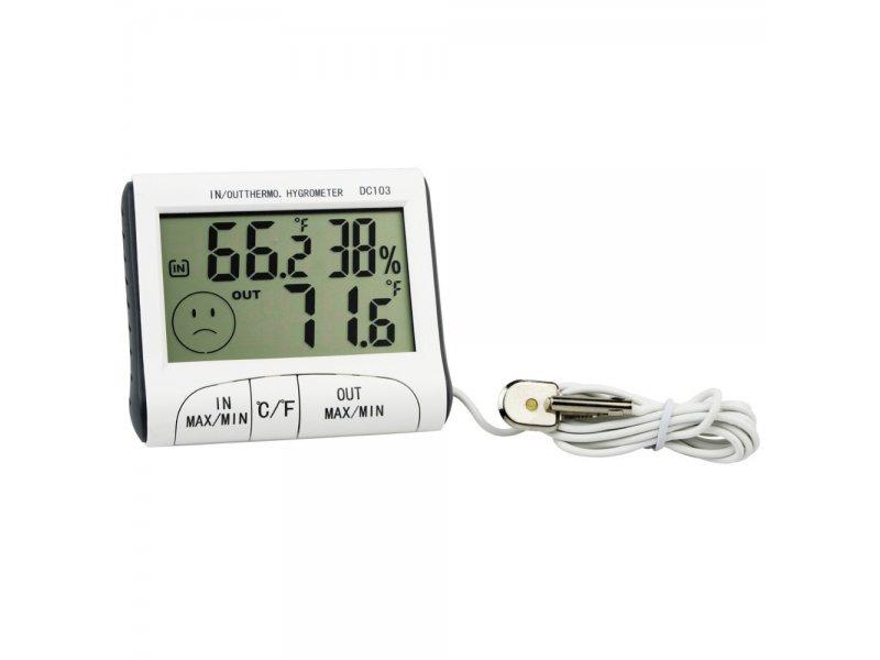Ψηφιακό Θερμόμετρο/Υγρόμετρο εσωτρικού-εξωτερικού χώρου ακριβείας HUM-DC103