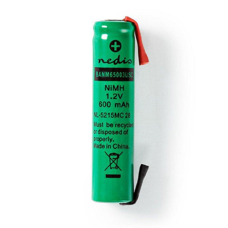 Επαναφορτιζόμενη Μπαταρία 1.2V 600mAh AAA (Micro) Ni-MH με Λαμάκια.