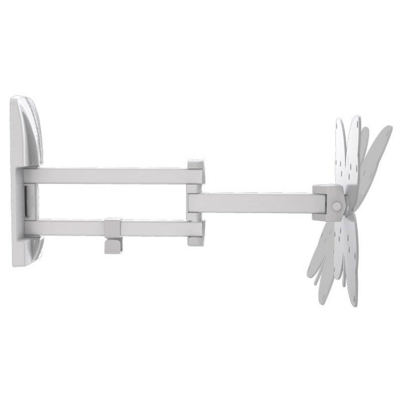 """Επιτοίχια Βάση Στήριξης Με 2 Βραχίονες, Για Τηλεοράσεις LED/LCD Από 26"""" έως 40"""", Σε Λευκό Χρώμα."""