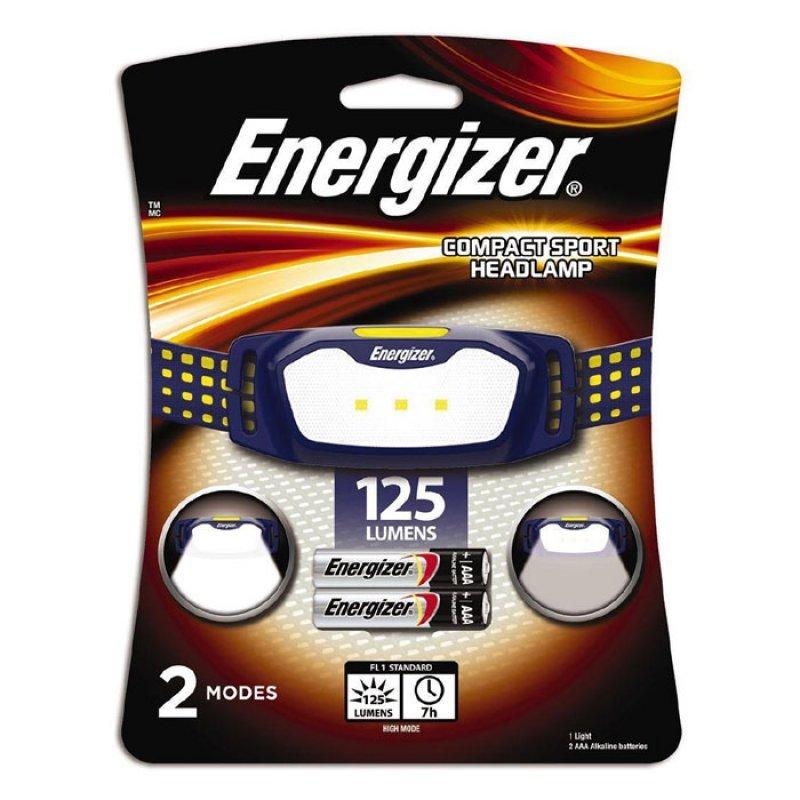 Φακός Κεφαλής Energizer Sport Headlight 2AAA με φωτεινότητα 125 lumens.