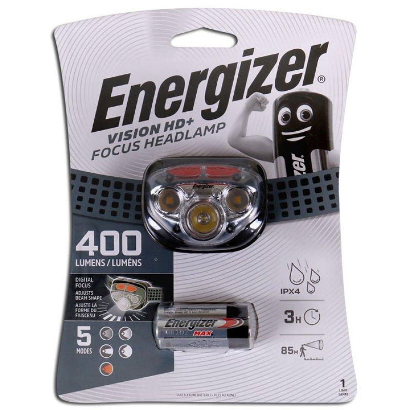 Φακός Κεφαλής Energizer Vision HD+ Focus  400 Lumens.