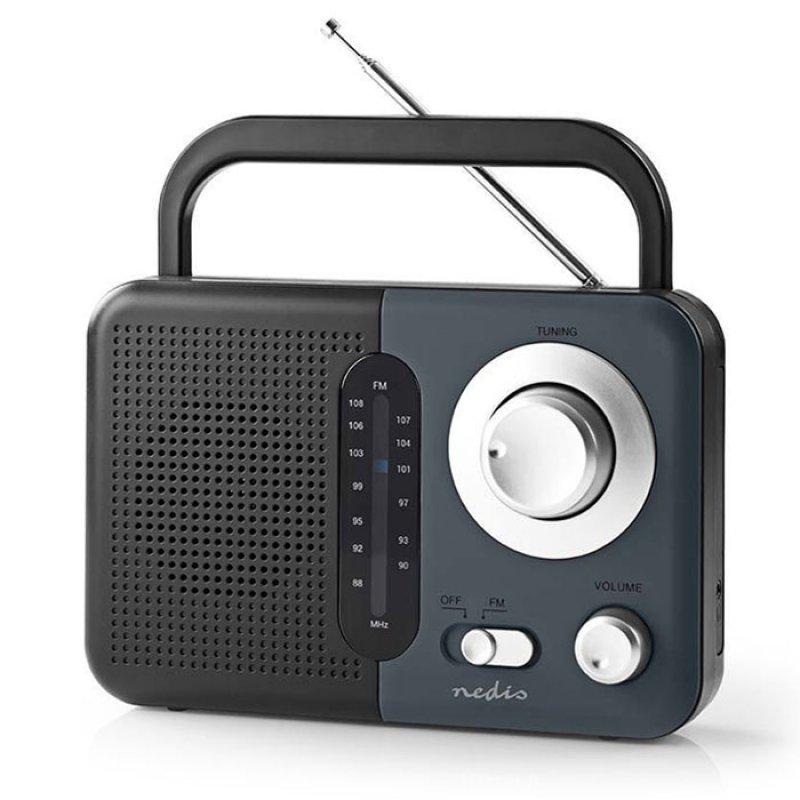 Φορητό Ραδιόφωνο FM, Σε Μαύρο/Γκρι Χρώμα.