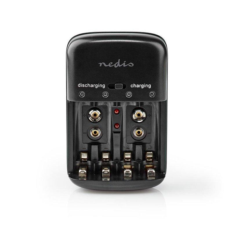 Φορτιστής για μπαταρίες NiCd και Ni-MH AA / AAA / 9V. NEDIS BACH07
