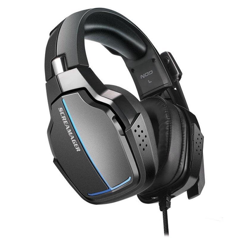 Gaming headset με αναδιπλούμενο μικρόφωνο και rainbow NOD SCREAMAGER
