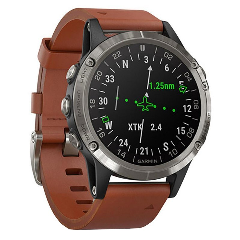 Garmin D2 Delta with Brown Leather Band