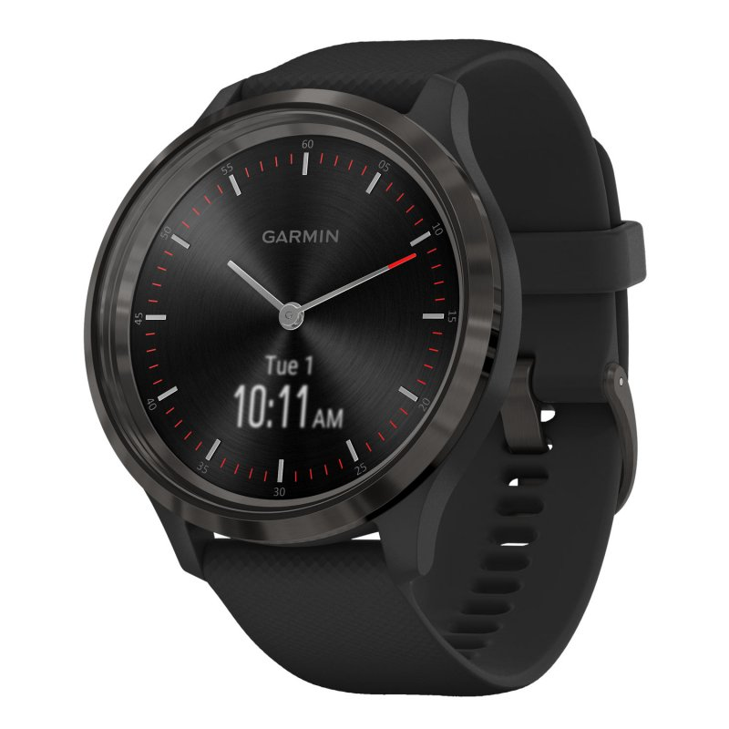 Garmin Vivomove 3 Slate with Black Silicone Band