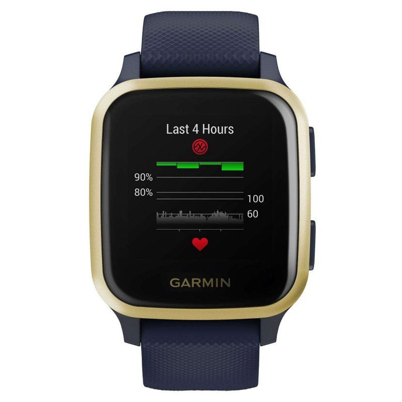 Garmin Venu Sq Music Navy with Light Gold Bezel  010-02426-12