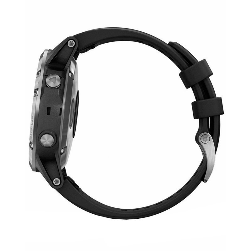 Garmin Fenix 5 Plus Silver with Black Band (010-01987-21)