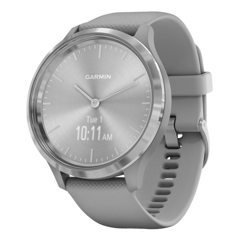 Garmin Vivomove 3 Silver with Powder Gray Silicone Band