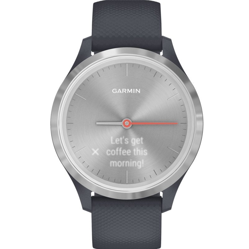 Garmin Vivomove 3S Silver with Granite Blue Silicone Band (010-02238-20)