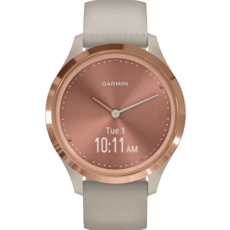 Garmin Vivomove 3S Rose Gold with Light Sand Silicone