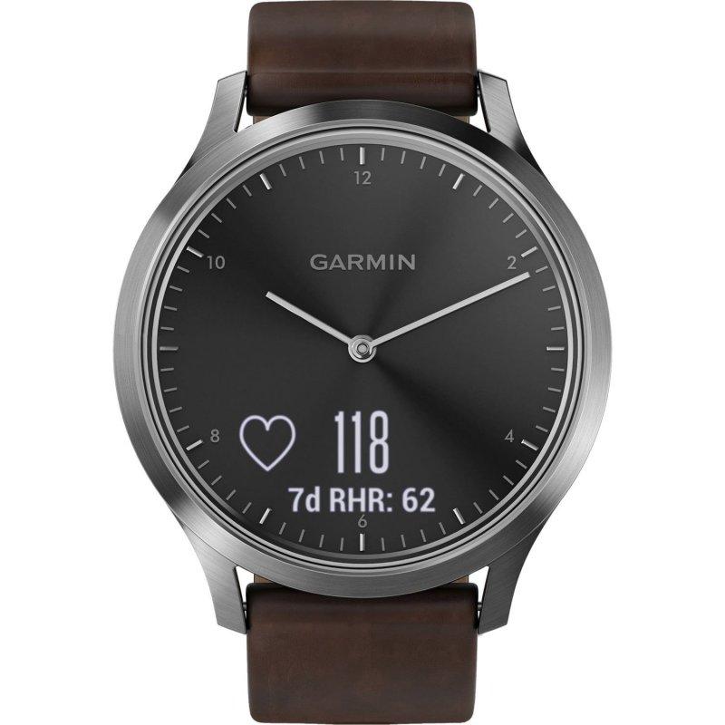 Garmin vivomove HR Premium Large Silver/Dark Brown