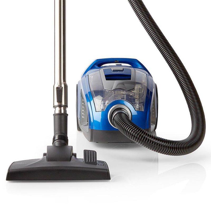Ηλεκτρική Σκούπα Χωρίς Σακούλα, 500W, Με Πανίσχυρο Μοτέρ, Σε Μπλε Χρώμα