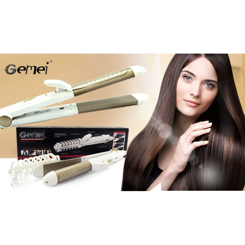 Ισιωτικό μαλλιών και ηλεκτρικό ψαλίδι 2 σε 1 Gemei gm-1992