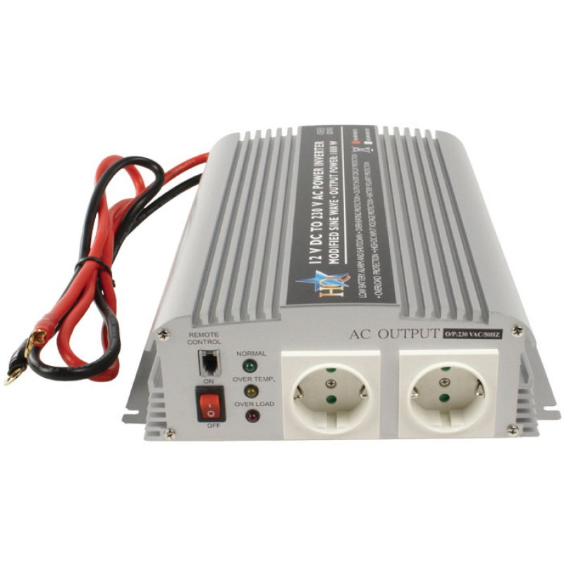 Inverter 1000W 12VDC to 230VAC.