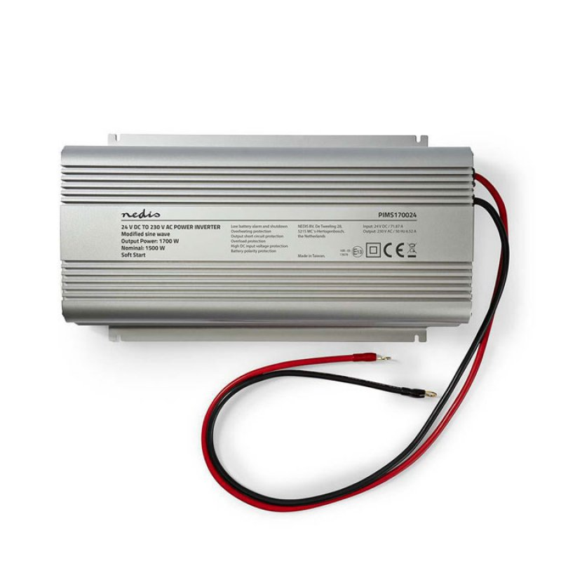 Inverter 1700W με Έξοδο Τροποποιημένης Ημιτονοειδής Κυματομορφής που Μετατρέπει την Τάση από 24V DC σε 230V AC.