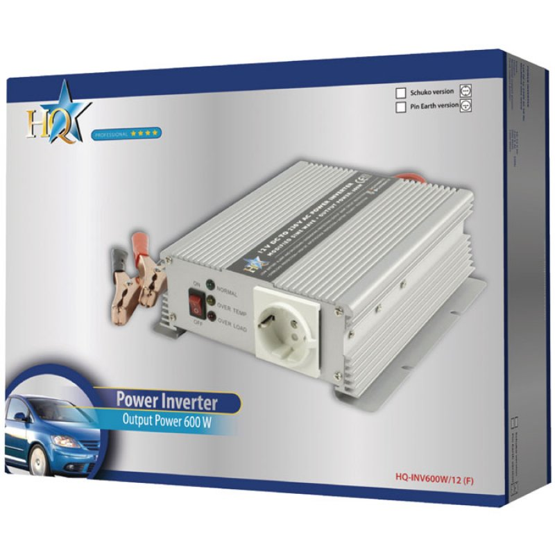 Inverter 600W 12VDC to 230VAC.