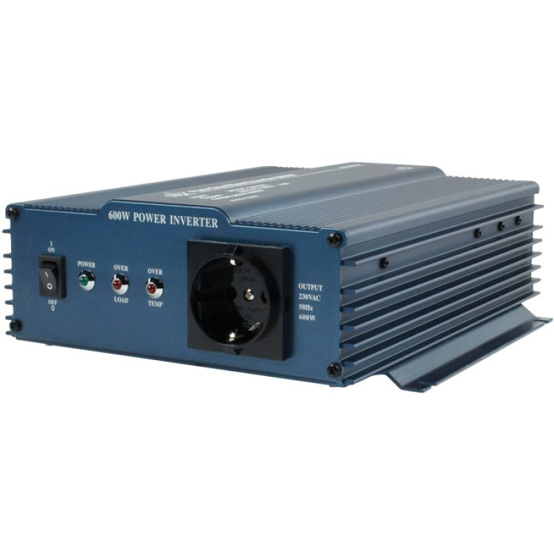 Inverter 600W με Έξοδο Καθαρής Ημιτονικής Κυματομορφής από 24V DC σε 230V AC